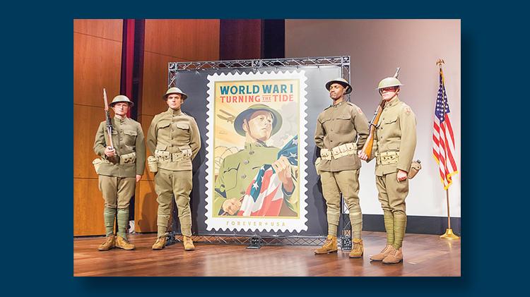World War I stamp ceremony