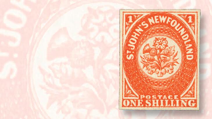 unused-newfoundland-scarlet-stamp-mesh-paper