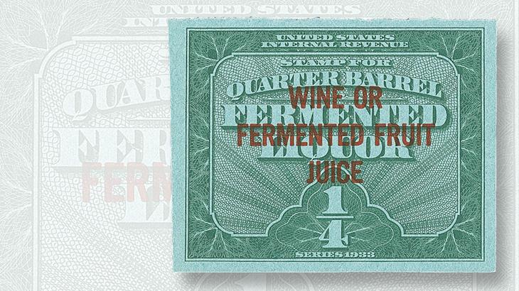 unused-quarter-barrel-fermented-fruit-juice-stamp