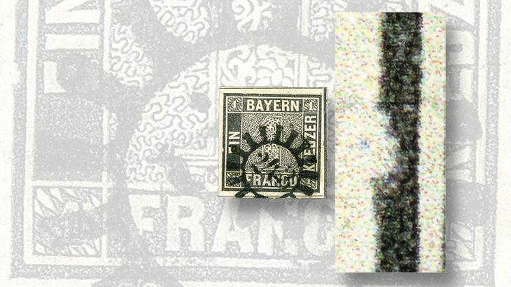 unveiling-classic-stamps-1849-bavaria-schwarze-einser-frame-break