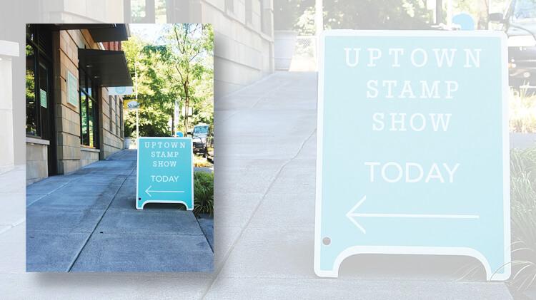 uptown-stamp-show-sandwich-board-sign