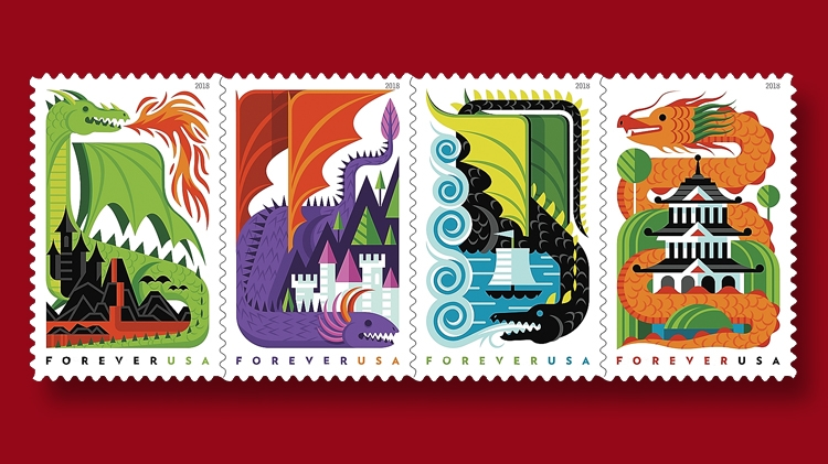 Dragons Stamps To Debut At APS Stampshow