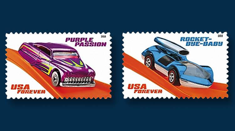 us-hot-wheels-purple-passion-rocket-bye-baby-stamps