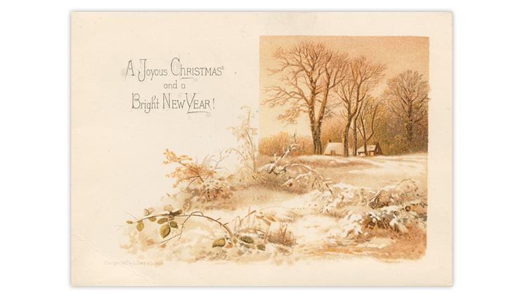 Fantasy Christmas card reverse