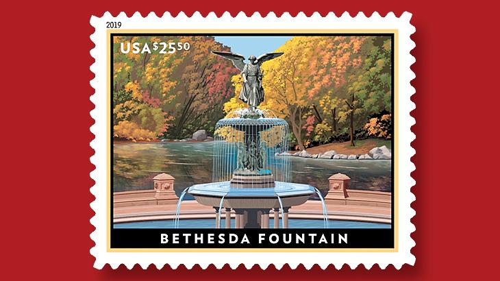 us-stamp-2019-bethesda-fountain