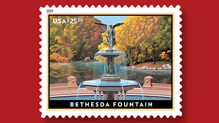 us-stamp-2019-bethesda-fountain