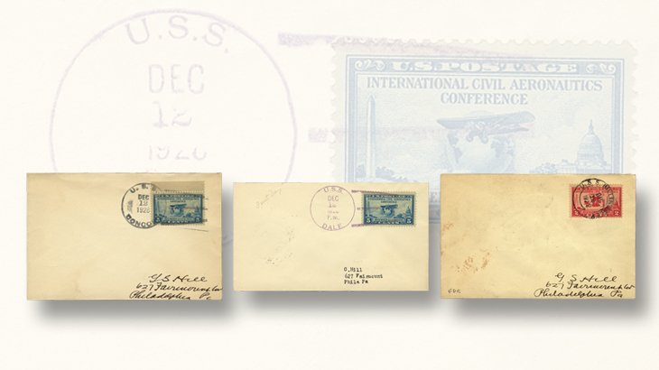 us-stamp-notes-1928-aeronautics-conference-first-day-covers