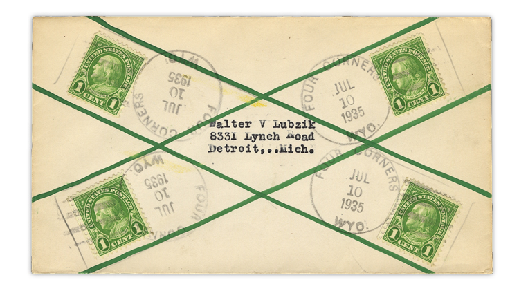 us-stamp-notes-1935-four-corners-wyoming-cover