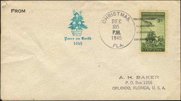 us-stamp-notes-1945-cover-christmas-day-postmark-iwo-jima-stamp
