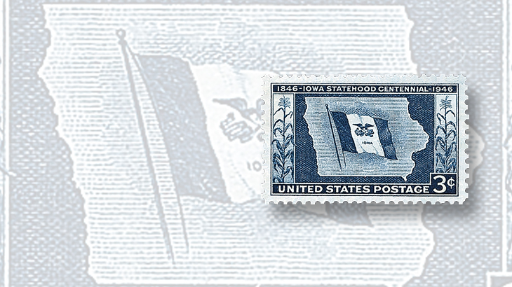 us-stamp-notes-1946-iowa-statehood-centennial-stamp