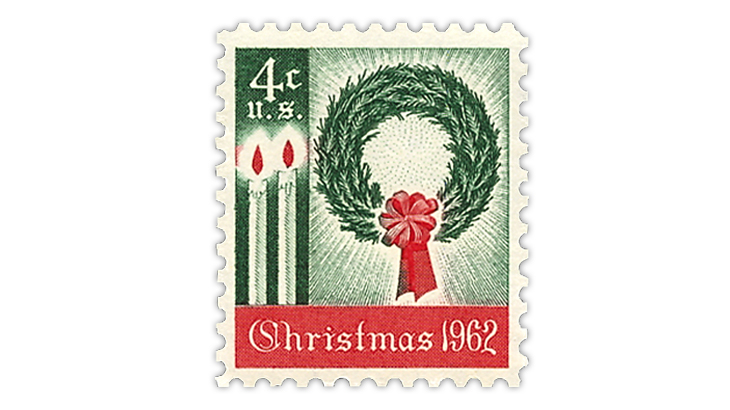 US Stamp Notes 1962 Christmas stamp