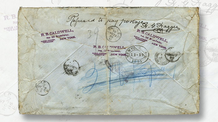 us-stamp-notes-20-1881-franklin-stamps-cover-back