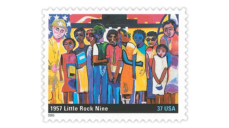 us-stamp-notes-2005-little-rock-9-stamp
