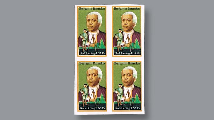 us-stamp-notes-banneker-block