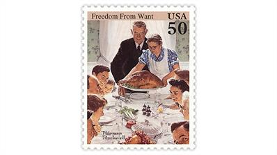 us-stamp-notes-cartoon-contest-rockwell-thanksgiving