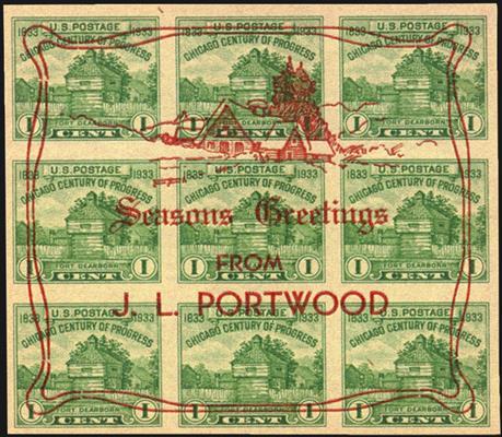 us-stamp-notes-century-of-progress-block-christmas-overprint