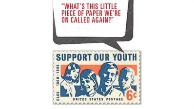 U.S. Stamp Notes Support Our Youth caption contest stamp