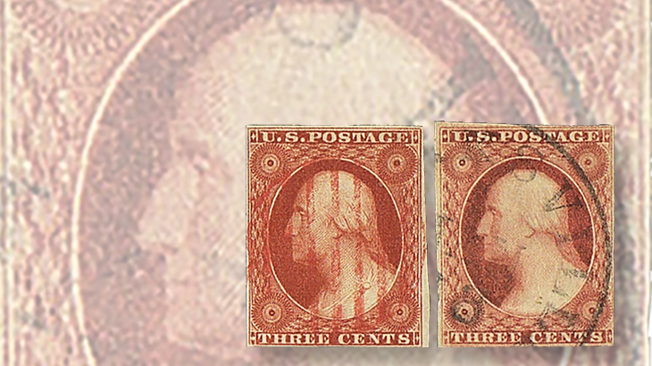 us-stamp-notes-expertizing-1851-washington-stamps-orange-brown-dull-red-colors