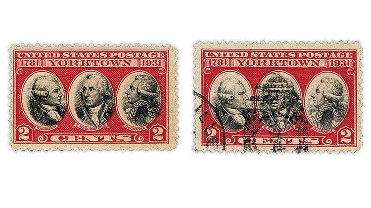 us-stamp-notes-expertizing-carmine-lake-yorktown-stamp