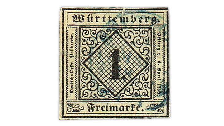 us-stamp-notes-expertizing-german-states-wurttemberg-stamp