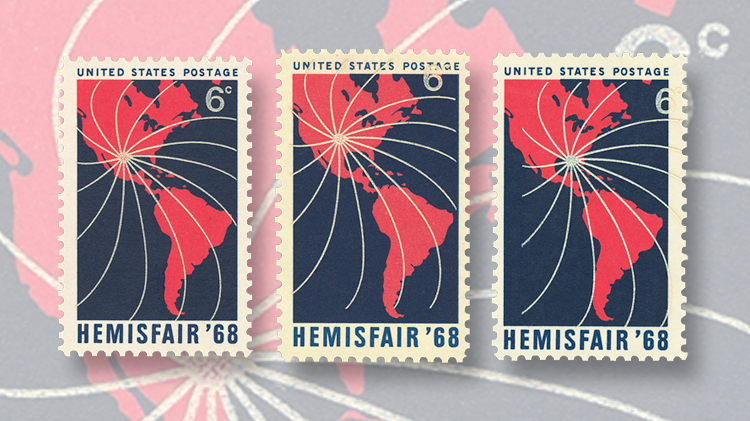us-stamp-notes-hemisfair-68-color-misregistration