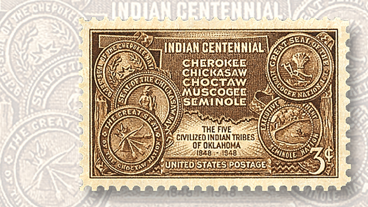 us-stamp-notes-indian-centennial