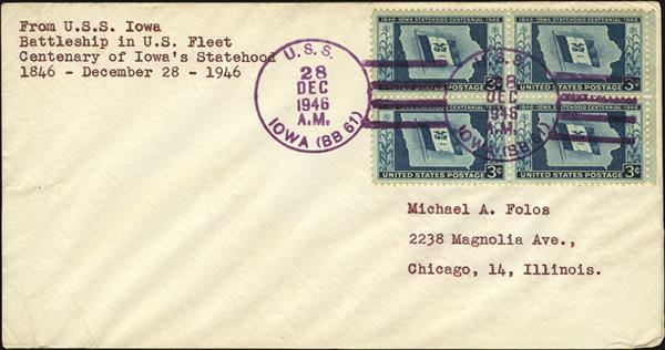 us-stamp-notes-iowa-statehood-centennial-uss-iowa-cover