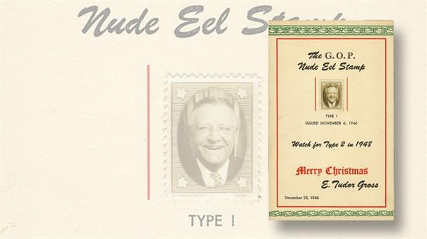 us-stamp-notes-mystery-postcard-e-tudor-gross-1946-nude-eel-stamp