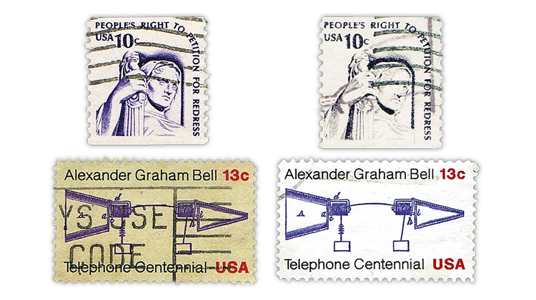 us-stamp-notes-paper-color-removed