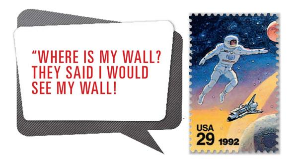 us-stamp-notes-space-wall