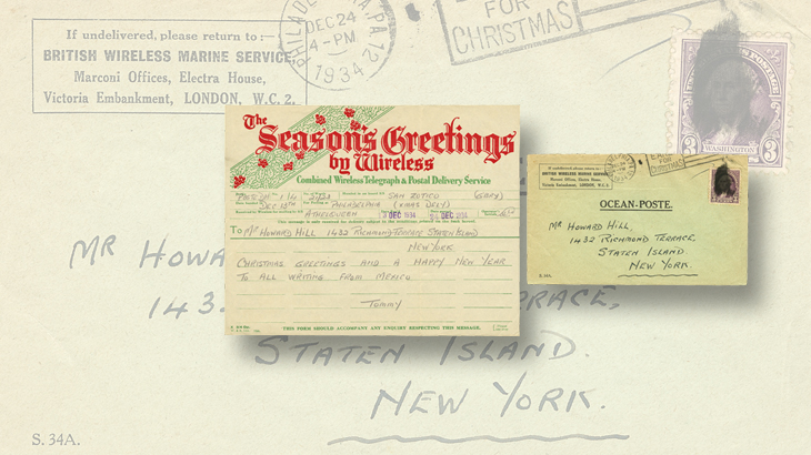 in the 1930s telegrams specially created for the christmas season could be sent and delivered at the last minute this example was sent through the mail in - Does Mail Get Delivered On Christmas Eve