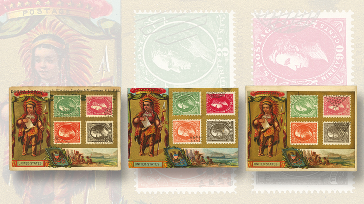 us-stamp-notes-trade-cards-1870-71-definitive-series-cancellation-color-varieties