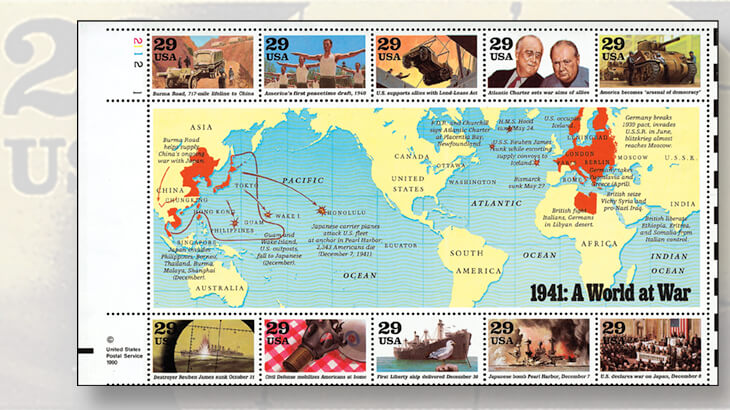 us-world-war-ii-stamp-series