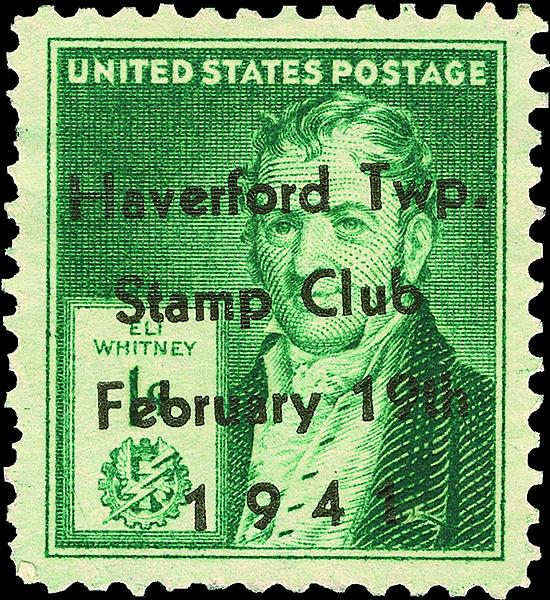 This Stamp Was Overprinted For A Banquet Of The Haverford Township Pennsylvania Club In 1941