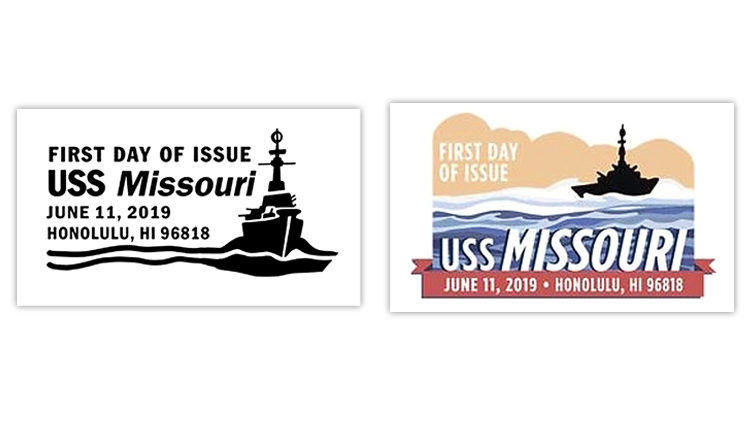 uss-missouri-first-day-postmarks