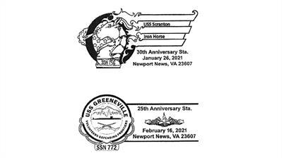 uss-scranton-30th-anniversary-uss-greenville-25th-anniversary-postmarks