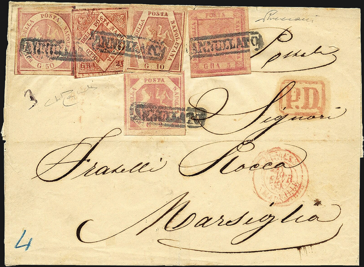 vaccari-auction-1859-cover-naples-marseille-five-stamp-franking