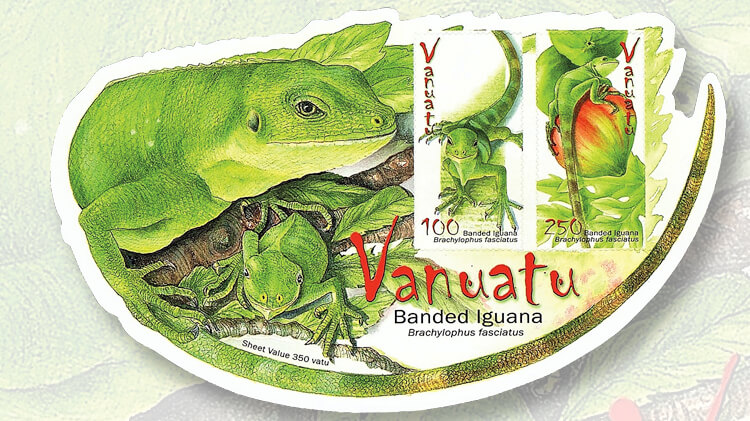 vanuatu-banded-iguana-stamp-sheetlet