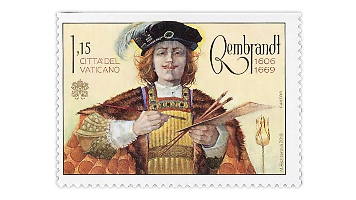 vatican-city-2019-rembrandt-stamp-olympic-academy-award