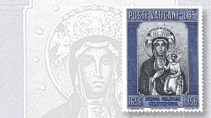 vatican-city-35-lira-black-madonna-stamp