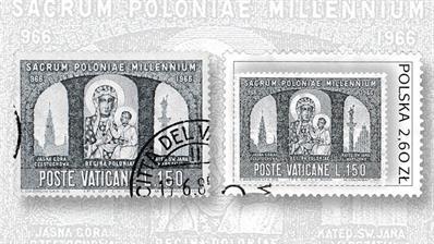 vatican-city-poland-black-madonna-stamps