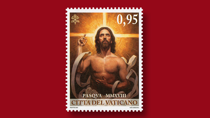 vatican-city-risen-christ-easter-stamp