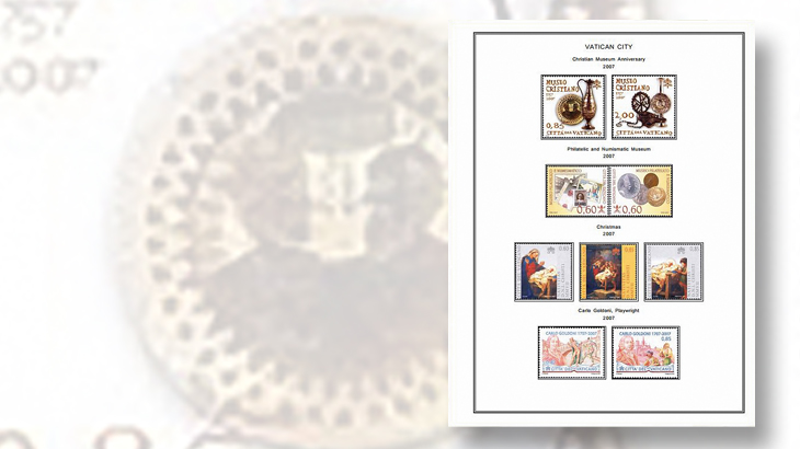 vatican-city-stamp-album-page