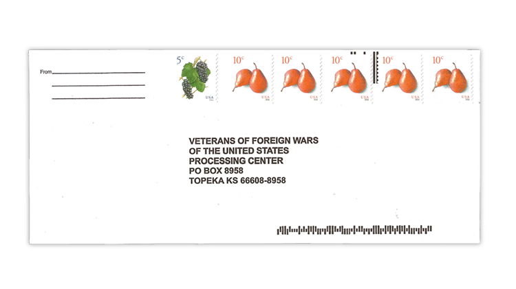 veterans-foreign-wars-fundraising-envelope-fruits-coil-stamps