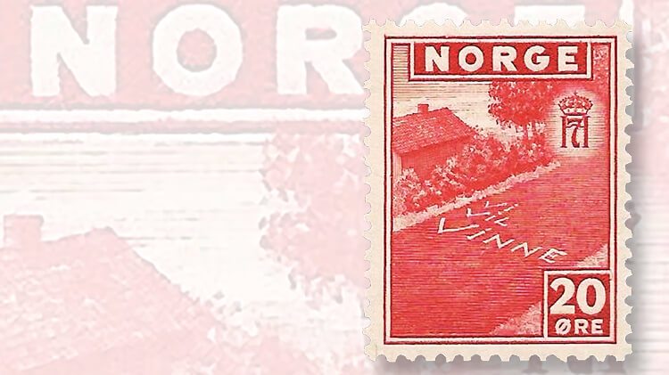 vi-vil-vinne-norway-stamp