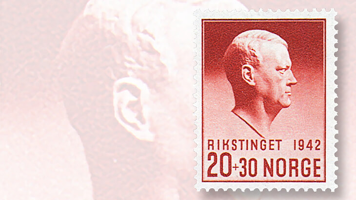 vidkun-quisling-norway-stamp