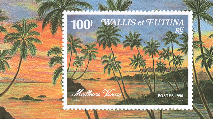 wallis-and-futuna-beach-sunset-stamp-1990
