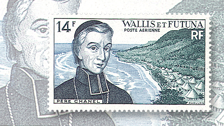 wallis-and-futuna-peter-chanel-stamp-1955