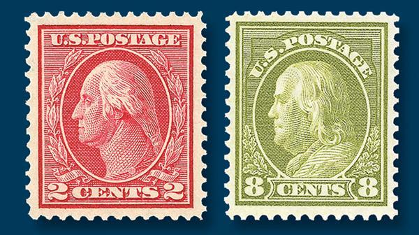 washington-franklins-stamps
