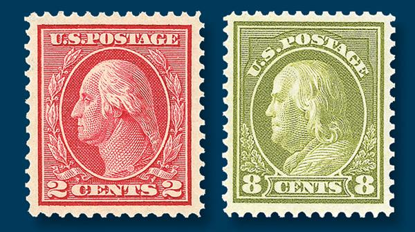 washington-franklins-stamps